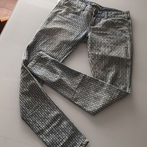FREE PEOPLE Patterned Skinny Jeans